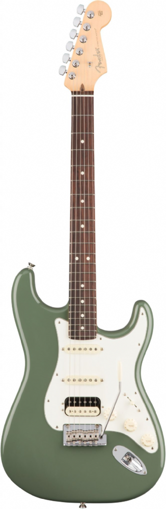 Fender American Pro Stratocaster HSS Shawbucker Olive Rosewood